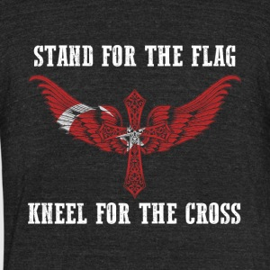 Stand for the flag Turkey kneel for the cross - Unisex Tri-Blend T-Shirt by American Apparel
