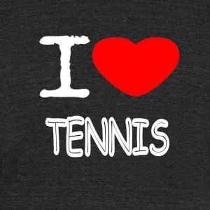 I LOVE TENNIS - Unisex Tri-Blend T-Shirt by American Apparel