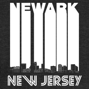 Retro Newark New Jersey Skyline - Unisex Tri-Blend T-Shirt by American Apparel