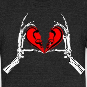 Broken heart - Unisex Tri-Blend T-Shirt by American Apparel