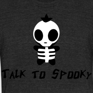 spooky - Unisex Tri-Blend T-Shirt by American Apparel
