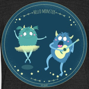 Celebrity monster couple - Unisex Tri-Blend T-Shirt by American Apparel