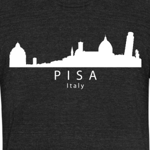 Pisa Italy Skyline - Unisex Tri-Blend T-Shirt by American Apparel