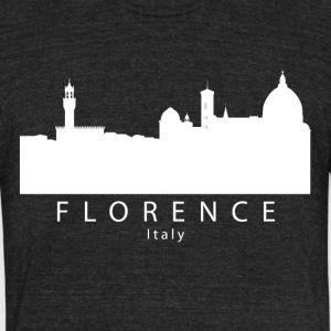 Florence Italy Skyline - Unisex Tri-Blend T-Shirt by American Apparel