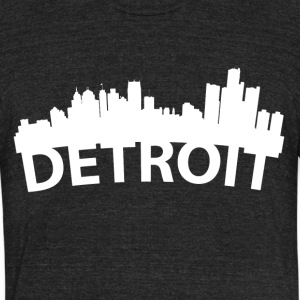 Arc Skyline Of Detroit MI - Unisex Tri-Blend T-Shirt by American Apparel