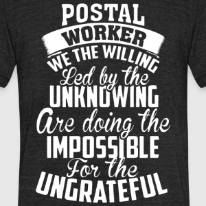 Postal Worker T Shirt - Unisex Tri-Blend T-Shirt by American Apparel