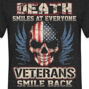 Death smiles at everyone shirt - Unisex Tri-Blend T-Shirt by American Apparel