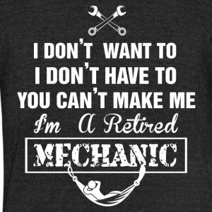 MECHANIC TSHIRT - Unisex Tri-Blend T-Shirt by American Apparel