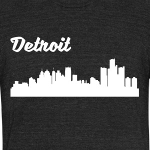 Detroit MI Skyline - Unisex Tri-Blend T-Shirt by American Apparel
