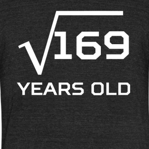 Square Root 169 Funny 13 Years Old 13th Birthday - Unisex Tri-Blend T-Shirt by American Apparel