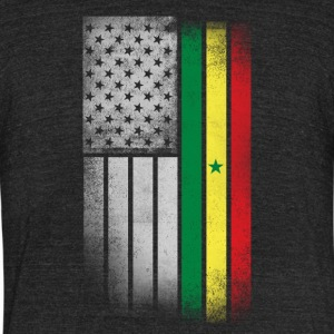 Senegalese American Flag - Unisex Tri-Blend T-Shirt by American Apparel