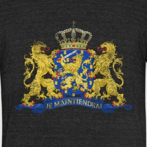 Dutch Coat of Arms Netherlands Symbol - Unisex Tri-Blend T-Shirt by American Apparel