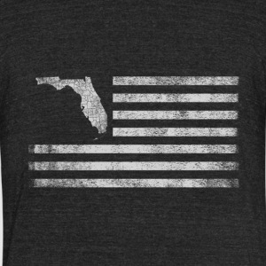 Florida State United States Flag Vintage USA - Unisex Tri-Blend T-Shirt by American Apparel