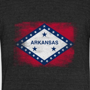 Arkansas State Flag Distressed Vintage - Unisex Tri-Blend T-Shirt by American Apparel