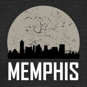 Memphis Full Moon Skyline - Unisex Tri-Blend T-Shirt by American Apparel