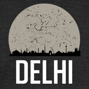 Delhi Full Moon Skyline - Unisex Tri-Blend T-Shirt by American Apparel