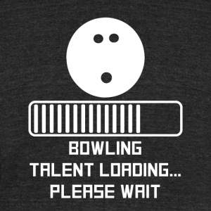 Bowling Talent Loading - Unisex Tri-Blend T-Shirt by American Apparel