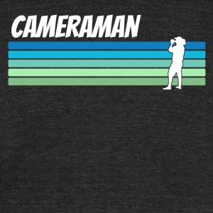 Retro Cameraman - Unisex Tri-Blend T-Shirt by American Apparel