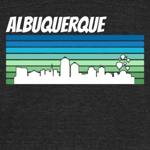 Retro Albuquerque Skyline - Unisex Tri-Blend T-Shirt by American Apparel