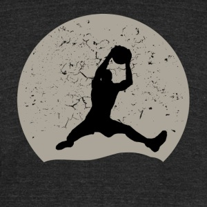 Basketball Full Moon - Unisex Tri-Blend T-Shirt by American Apparel
