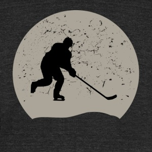 Hockey Full Moon - Unisex Tri-Blend T-Shirt by American Apparel