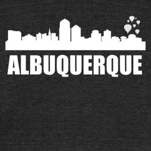 Albuquerque NM Skyline - Unisex Tri-Blend T-Shirt by American Apparel