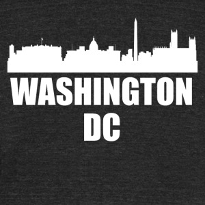 Washington DC DC Skyline - Unisex Tri-Blend T-Shirt by American Apparel