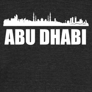 Abu Dhabi Skyline - Unisex Tri-Blend T-Shirt by American Apparel