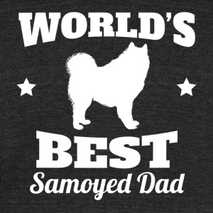 Worlds Best Samoyed Dad - Unisex Tri-Blend T-Shirt by American Apparel