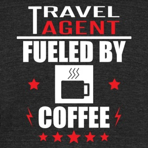 Travel Agent Fueled By Coffee - Unisex Tri-Blend T-Shirt by American Apparel