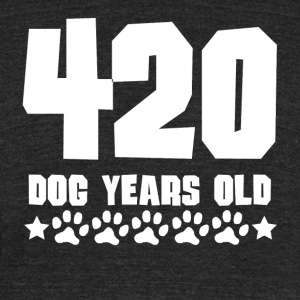 420 Dog Years Old Funny 60th Birthday - Unisex Tri-Blend T-Shirt by American Apparel