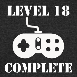 Level 18 Complete 18th Birthday - Unisex Tri-Blend T-Shirt by American Apparel
