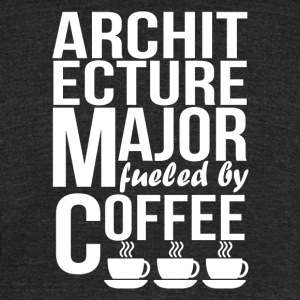 Architecture Major Fueled By Coffee - Unisex Tri-Blend T-Shirt by American Apparel