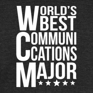 World's Best Communications Major - Unisex Tri-Blend T-Shirt by American Apparel