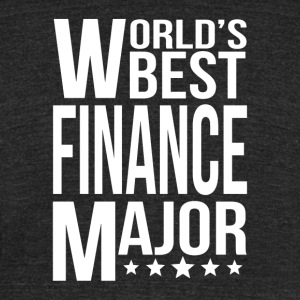 World's Best Finance Major - Unisex Tri-Blend T-Shirt by American Apparel