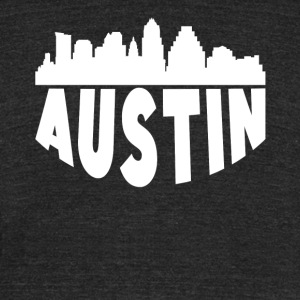 Austin TX Cityscape Skyline - Unisex Tri-Blend T-Shirt by American Apparel