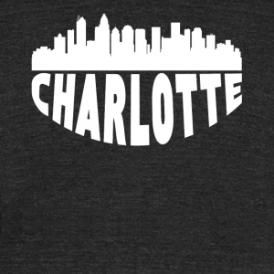 Charlotte NC Cityscape Skyline - Unisex Tri-Blend T-Shirt by American Apparel
