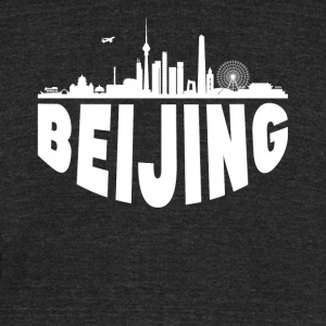 Beijing China Cityscape Skyline - Unisex Tri-Blend T-Shirt by American Apparel