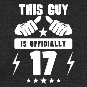 This Guy Is Officially 17 - Unisex Tri-Blend T-Shirt by American Apparel