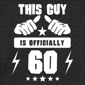 This Guy Is Officially 60 - Unisex Tri-Blend T-Shirt by American Apparel