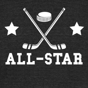 Hockey All Star - Unisex Tri-Blend T-Shirt by American Apparel