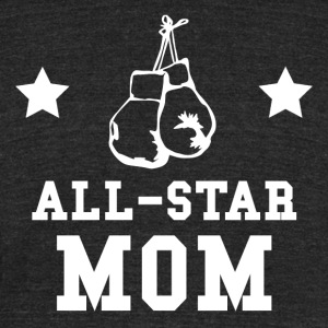 All Star Boxing Mom - Unisex Tri-Blend T-Shirt by American Apparel