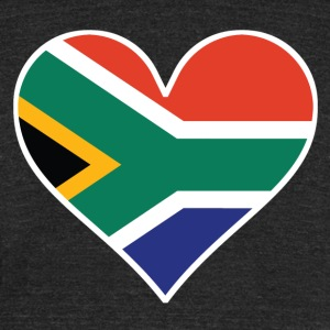South African Flag Heart - Unisex Tri-Blend T-Shirt by American Apparel