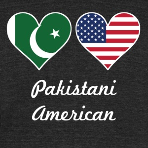 Pakistani American Flag Hearts - Unisex Tri-Blend T-Shirt by American Apparel
