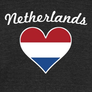 Netherlands Flag Heart - Unisex Tri-Blend T-Shirt by American Apparel