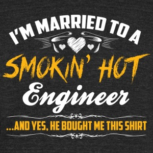 engineer married - Unisex Tri-Blend T-Shirt by American Apparel