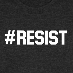 RESIST - Unisex Tri-Blend T-Shirt by American Apparel