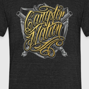 Gangster nation - Unisex Tri-Blend T-Shirt by American Apparel