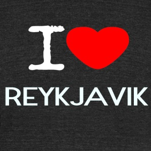 I LOVE REYKJAVIK - Unisex Tri-Blend T-Shirt by American Apparel