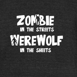 Zombie In The Streets - Unisex Tri-Blend T-Shirt by American Apparel